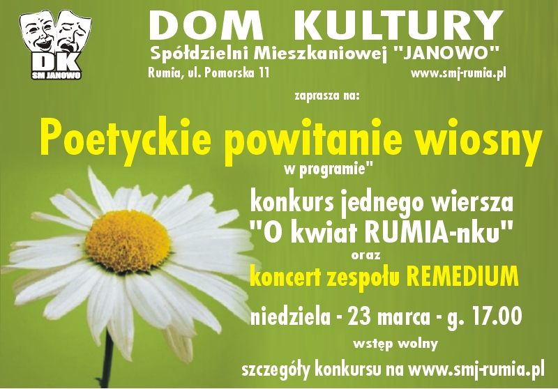 Poetyckie Powitanie Wiosny Spółdzielnia Mieszkaniowa Janowo